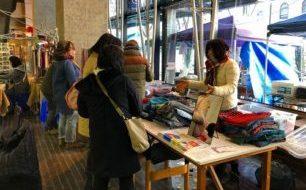 【3/10 土曜マルシェ】播州織ブースは西角博文さんのストールづくり+『sawa-ri』の生地販売。