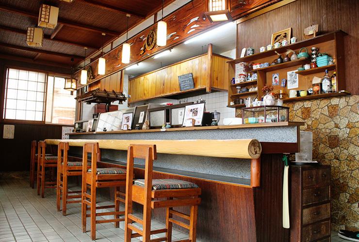 老舗割烹のしつらえを生かした和める喫茶店「割烹喫茶 大力」